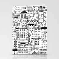 cityscape Stationery Cards featuring cityscape by Anna Grunduls