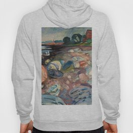 Shore with Red House by Edvard Munch Hoody