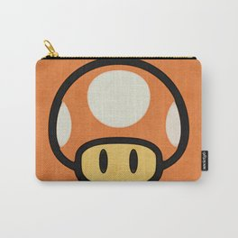 Mushroom Red/Orange Carry-All Pouch