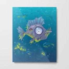 Zombie Fish Metal Print