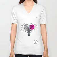 psychology V-neck T-shirts featuring Archetypes Series: Sophistication by Attitude Creative