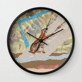 Tiger Cub - Mixed Media Digital art Wall Clock