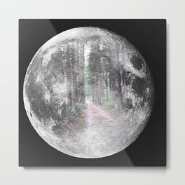 Moon Path Metal Print