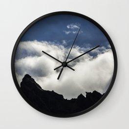 Mountain shadows Wall Clock