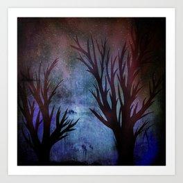 Night Trees Art Print