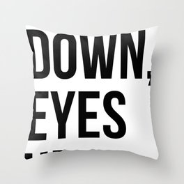 Heels Down, Eyes Up Throw Pillow