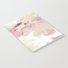 Rose Pink Turquoise Marble Painting Notebook