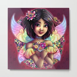 Naoko Fantasy Japanese Fairy Metal Print