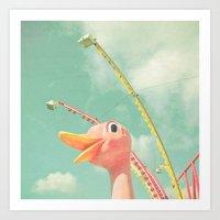 ostrich Art Prints featuring Ostrich by Cassia Beck