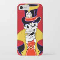 steam punk iPhone & iPod Cases featuring Steam Punk Vampire Skull by J&C Creations