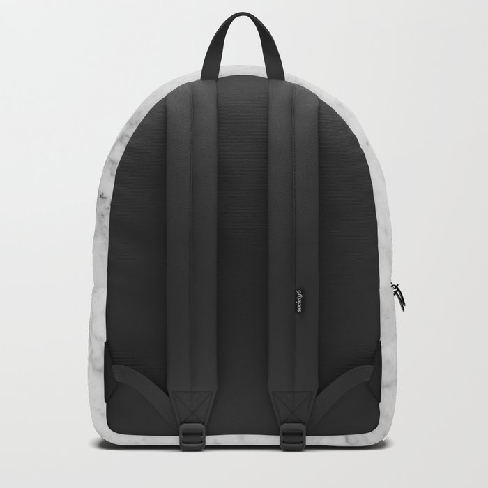 White Marble - Wood & Silver #157 Backpack