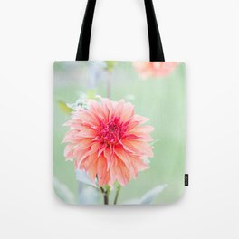 Juicy Orange Dhalia Tote Bag