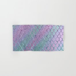 Mermaid Princess Glitter Scales Glam #1 #shiny #stripes #decor #art #society6 Hand & Bath Towel