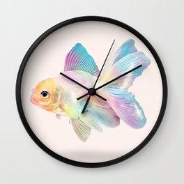 HOLOGRAPHIC GOLDFISH Wall Clock