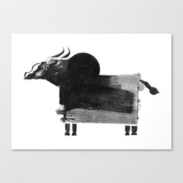 clumsy cow Canvas Print