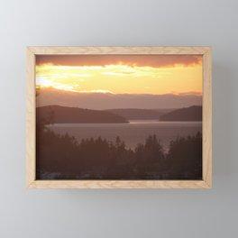 Golden Dusk Between the Islands Framed Mini Art Print