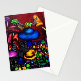 Raccoon In A Mushroom Patch Stationery Cards