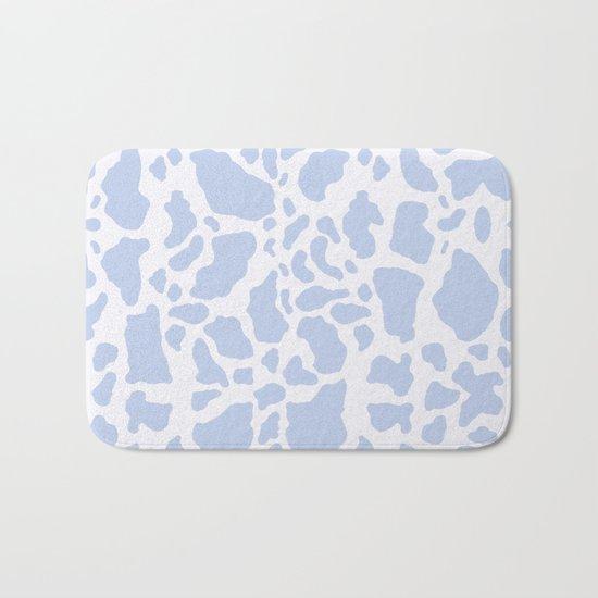 Blue Cow Print Bath Mat
