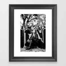 smoker and the thief  Framed Art Print