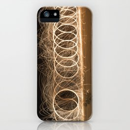 Wool spinning at the beach iPhone Case