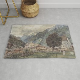 View Of Böckstein And The Entrance To Anlauftal 1875 by Rudolf von Alt | Reproduction Rug