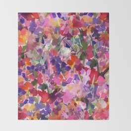 Candy Wildflowers Throw Blanket