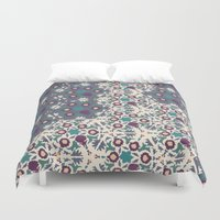 klimt Duvet Covers featuring Klimt MoonLight by Jamilla Okubo