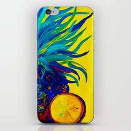Blue Pineapple Abstract iPhone Skin