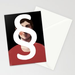 The Person Behind a Paragraph Stationery Cards