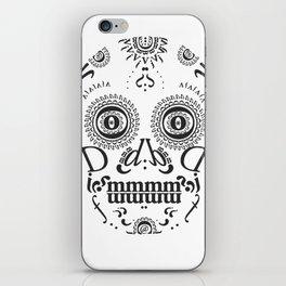 Typographic Sugar Skull iPhone Skin