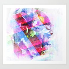 Abstract Head Art Print