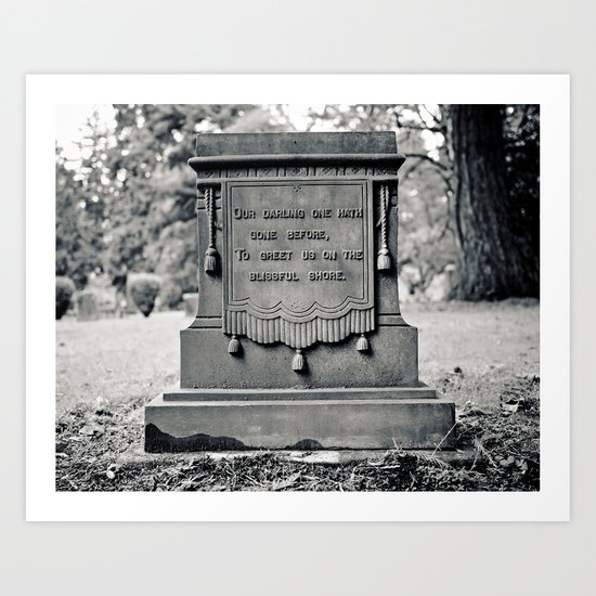 Graveyard inscription Art Print