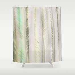 Feathered Leaf stalks Shower Curtain
