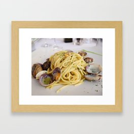 Linguine with Clams Framed Art Print