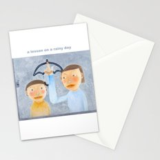 a lesson on a rainy day Stationery Cards