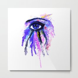 Blue eye splashing Metal Print
