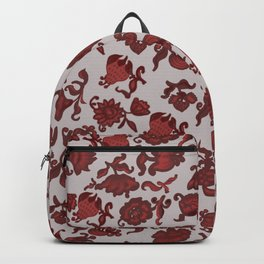 red flowers . ( https://society6.com/totalflora/collection ) Backpack