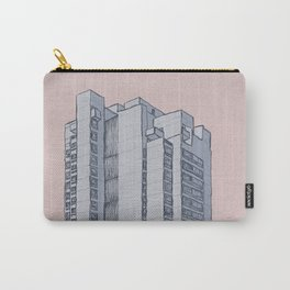 Brutalist Architecture Apartment Block Carry-All Pouch