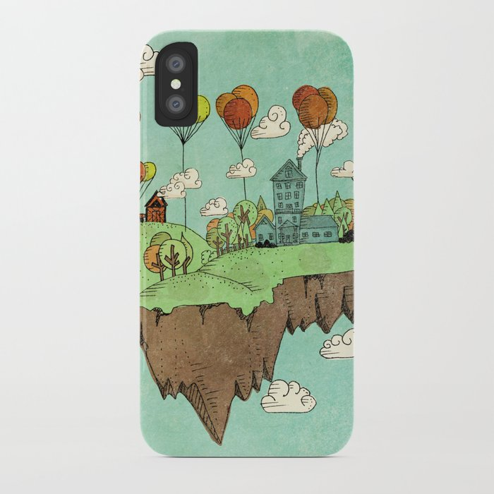 The Floating Farm iPhone Case