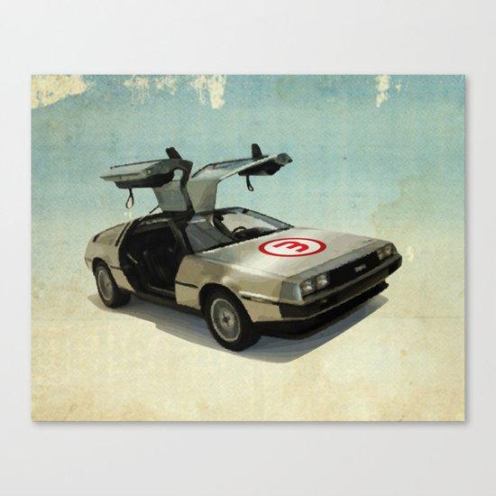 Number 3 - DeLorean Canvas Print