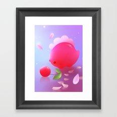Sakura Dino Framed Art Print