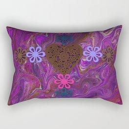 Rainbow Cross Purple Rectangular Pillow