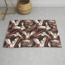 Owls with Ribbon Rug