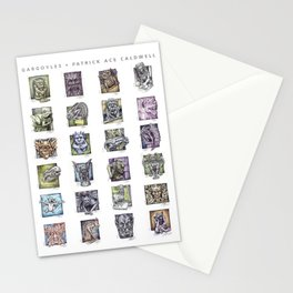 Gargoyle Compilation Print Stationery Cards