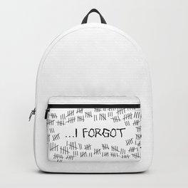 I Forgot (#4) Backpack