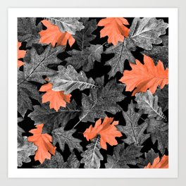 Fall Leaves - Orange Art Print