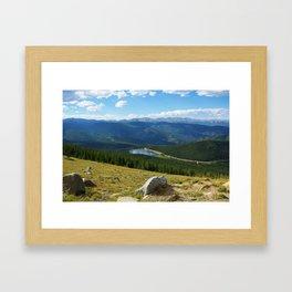 High above Echo Lake, Rocky Mountains, Colorado Framed Art Print