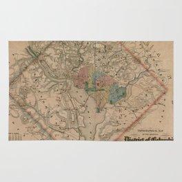 Vintage Washington DC Civil War Defenses Map (1864) Rug