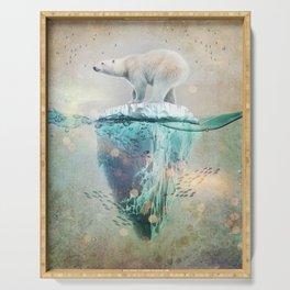Polar Bear Adrift Serving Tray