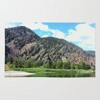 montana Area & Throw Rugs featuring Montana Rock  by OrdinaryAdventures